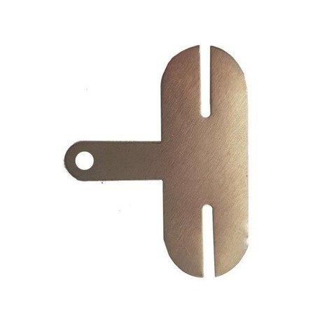 Blaszka do zgrzewania 2 ogniw - kształt 'T' - do lutowania i zgrzewania ogniw 18650