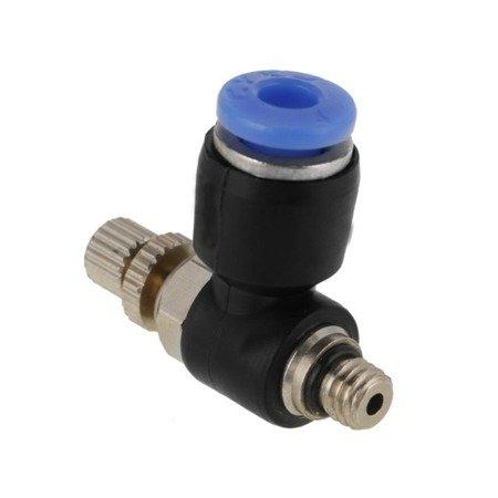 Bowden złącze - końcówka pneumatyczna z regulacja SL4-M6*1 - PTFE 4mm