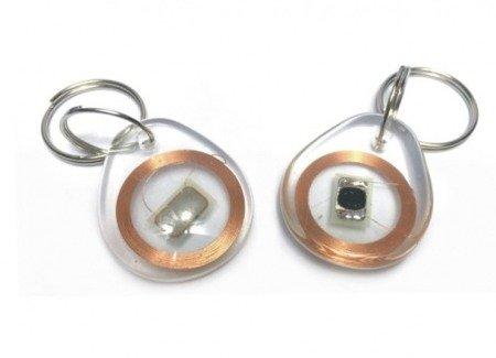 Brelok RFID / NFC 13.5MHz - przeźroczysty - do czytnika RC522 - do domofonów, alarmów, rejestracji czasu pracy