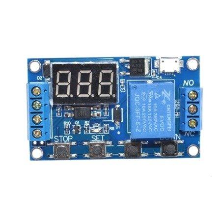 Cyfrowy Timer czasowy M792 6-30V - z przekaźnikiem 10A - wyzwalacz czasowy