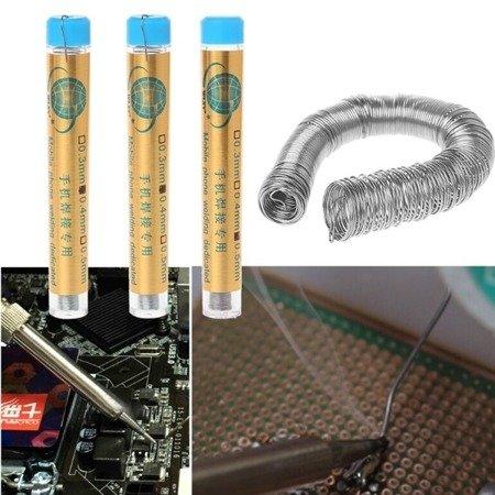 Cyna z topnikiem w fiolkach 5g 0.50 mm - WLXY - drut lutowniczy