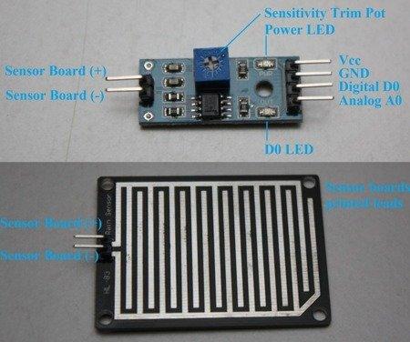 Czujnik deszczu FC-37 - detektor wody do Arduino