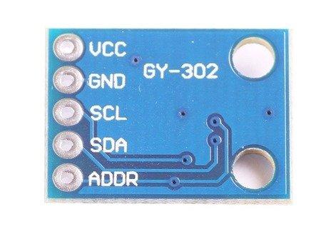 Czujnik natężenia światła GY-302 - BH1750 - wyjście I2C - Arduino