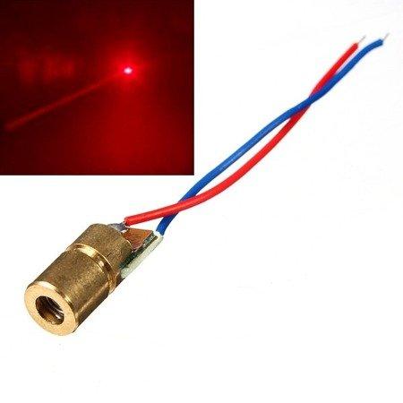 Dioda laserowa 3V 650nm 5mW kolor czerwony