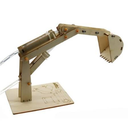 Drewniana Hydrauliczna koparka dla dzieci - DIY - Zabawka edukacyjna