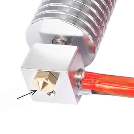 Dysza 0,3mm M6 - Filament 1,75mm - H13mm - Stożkowa - RepRap E3D V5 V6