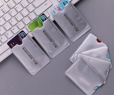 Etui na karty zbliżeniowe kredytowe - RFID / NFC - osłona antykradzieżowa