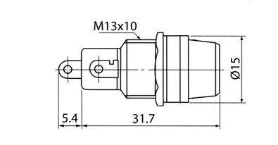 Gniazdo do bezpiecznika szklanego 5x20mm - FUSE - montaż do obudowy