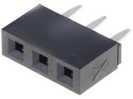 Gniazdo kołkowe 2,54mm - 3 piny - 10 szt - żeńskie - do układów elektronicznych