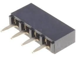 Gniazdo kołkowe 2,54mm - 4 piny - 10 szt - żeńskie - do układów elektronicznych