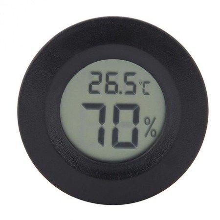 Higrometr i Termometr LCD - okrągły - wilgotnościomierz cyfrowy