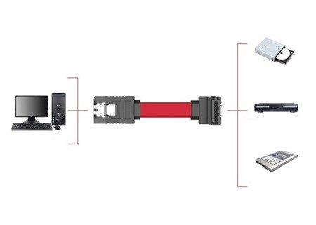 Kabel SATA 3 - 6 GB/s 45cm - kątowy przewód do dysku HDD SSD