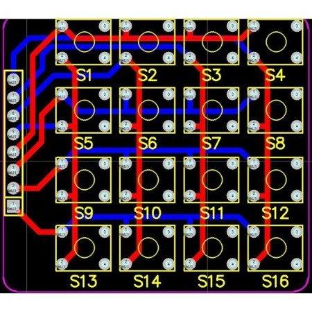 Klawiatura TACT 4x4 switch - matryca 16 przycisków do Arduino