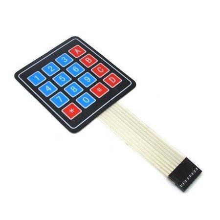 Klawiatura membranowa 16 klawiszy (4x4) - samoprzylepna do Arduino