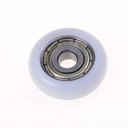 Koło prowadnicy 5x21,5x7mm - oś 5mm - nylonowe - łożyskowane - do dukarek 3D i maszyn