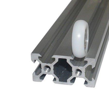Koło prowadnicy 6x28x8mm - oś 6mm - nylonowe - łożyskowane - do dukarek 3D i maszyn