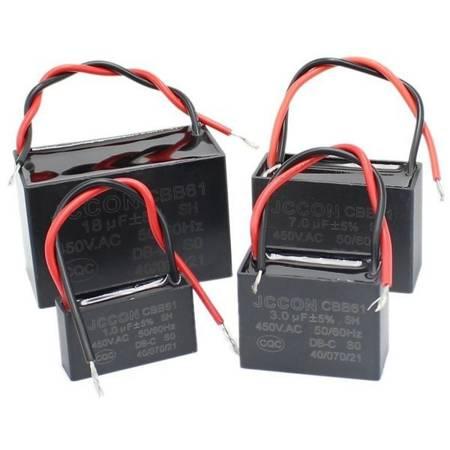 Kondensator rozruchowy CBB61 1.5uF 450VAC do silników - z przewodami