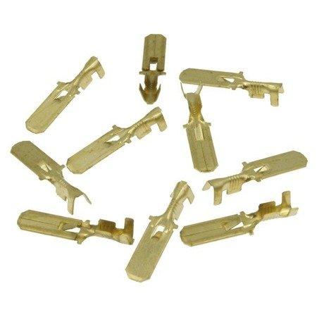 Konektor nieizolowany płaski męski - 6.3mm - wsuwka - na kabel 1-2.5mm2 - 10szt