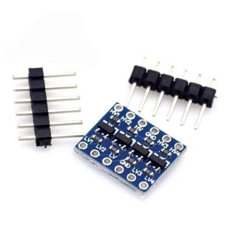 Konwerter poziomów 3,3/5V - 4 kanały - stanów logicznych SPI/UART - Arduino