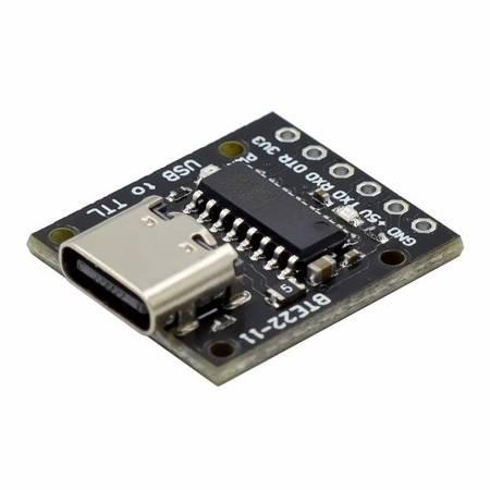 Konwerter szeregowy mini USB na TTL UART 3,3V/5V - CH340E - alternatywny moduł CH340G