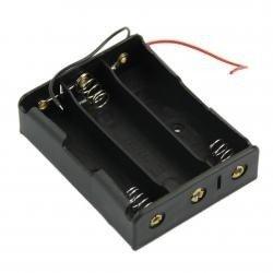 Koszyk na akumulator 3x 18650 3,7V Li-Ion - koszyczek na baterie (ogniwo) z przewodami