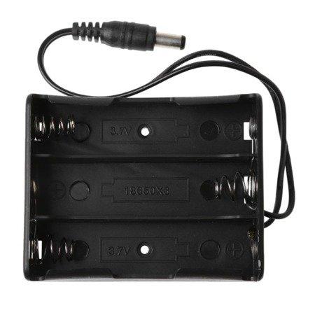 Koszyk na akumulator 3x 18650 - wtyk Jack DC 2.1