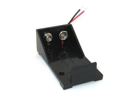 Koszyk na baterie 6F22 - 9V -R9 - koszyczek otwarty z przewodami