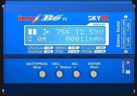 Ładowarka SkyRC Imax B6 V2- 6A / 60W- oryginał - uniwersalna ładowarka