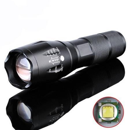 Latarka Taktyczna Policyjna - LED CREE XM-L T6 - ZOOM - akumulator, ładowarka