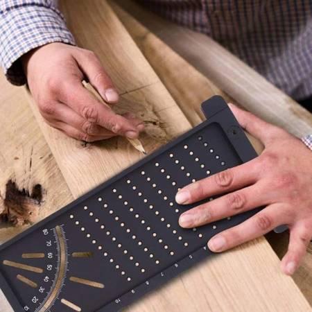 Linijka do obróbki drewna 3D - Narzędzie do wyznaczania pozycji otworu