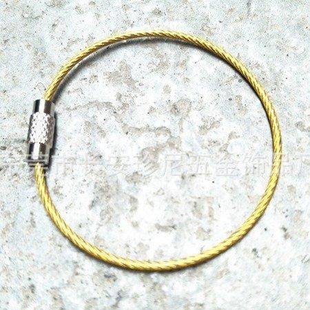 Linka do Kluczy - Zawieszka - Brelok Stalowy zakręcany - 15cm - niebieski