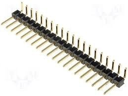 Listwa kołkowa 2,54mm kątowa - 20 pinów - 10 szt - goldpin do układów elektronicznych