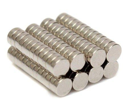Magnes 3x1mm walcowy N38 - magnes neodymowy 10 szt.