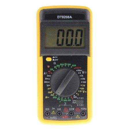 Miernik Uniwersalny DT9208A z temp. od -40°C do +1000°C - multimetr cyfrowy