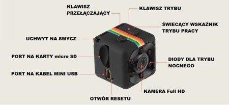 Mini kamera DV SQ11 1080P FULL HD - detekcja ruchu