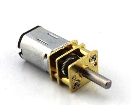 Mini silnik szczotkowy GA12-N20 - 50RPM - wał 9mm- 3-6V z przekładnią