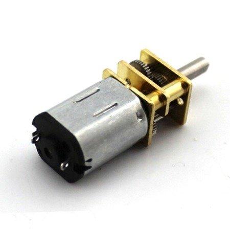 Mini silnik szczotkowy GA12-N20 - 70RPM - wał 8mm- 3-6V z przekładnią