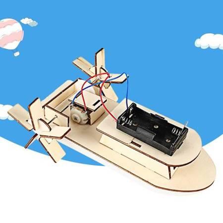 Model Łodzi statku - PAROWIEC wiosłowy - DIY - Drewniana Zabawka Edukacyjna