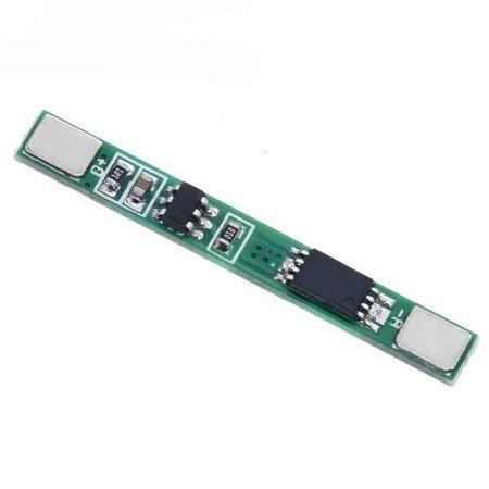 Moduł BMS PCM PCB ładowania i ochrony ogniw Li-ion - 1S -  3,7V - 3A - do ogniw 18650