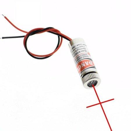 Moduł lasera z soczewką 650nm 5mW - czerwona wiązka krzyżowa