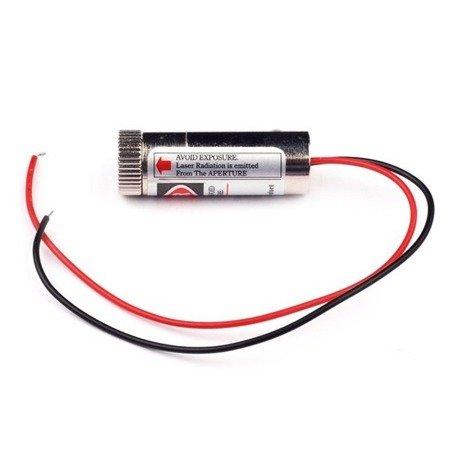 Moduł lasera z soczewką 650nm 5mW - czerwona wiązka punktowa