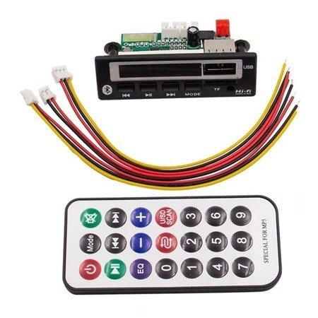 Moduł odtwarzacza MP3 - 12V - USB - SD - FM - Bluetooth 5.0 + pilot
