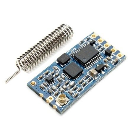 Moduł radiowy HC-12 SI4463 433MHz - 1000m - antena