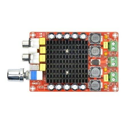 Moduł wzmacniacz audio 2x100W TDA7498 - wzmacniacz stereo klasy D