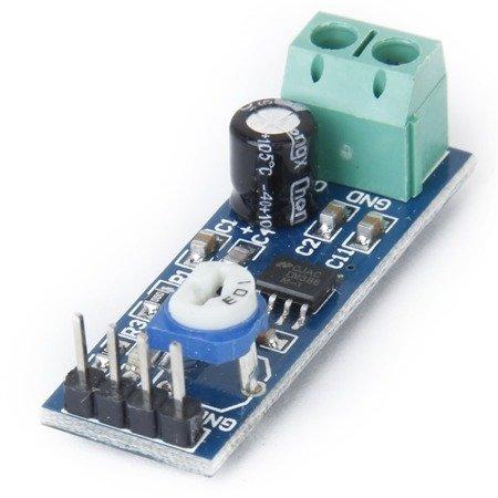 Moduł wzmacniacza audio LM386 - wzmocnienie do 46dB - wejście 10K