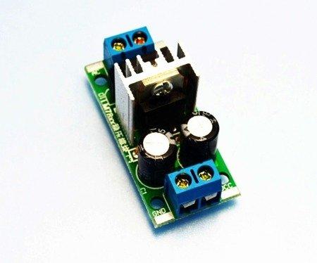 Moduł zasilacza stabilizowanego 12V 1,5A z AC (7V - 25V) - LM7812