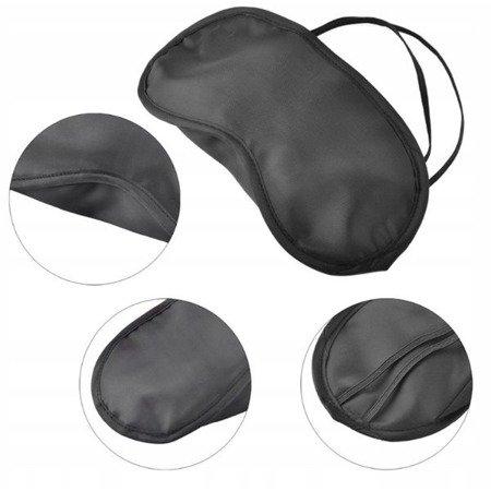 Opaska na oczy do spania - czarna - maska na noc do snu
