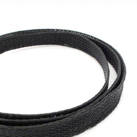 Oplot na przewody 2mm/4mm -  Oplot poliestrowy/ Plecionka - black - 1mb
