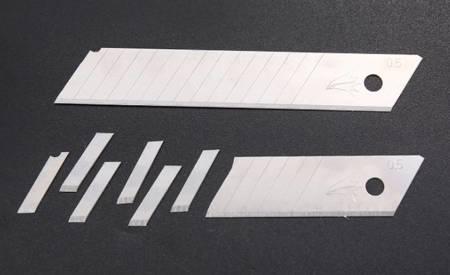 Ostrze zapasowe 18mm do nożyka uniwersalnego - 10szt - łamane ostrza