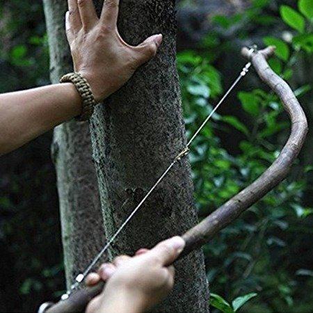 Piła Łańcuszkowa do drewna SURVIVAL - plastikowa rączka - Ręczna piłka strunowa - EDC